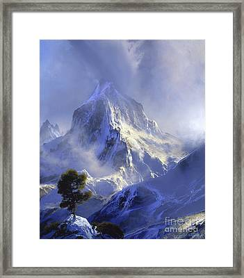 Approaching Storm Framed Print by David Lloyd Glover