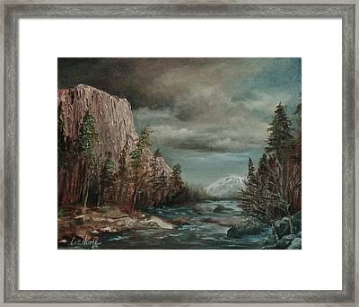 Approaching Storm Framed Print by Liz Hume