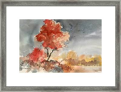 Approaching Storm Framed Print by Micheal Jones