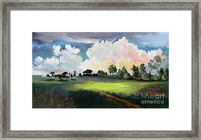 Approaching Storm Framed Print by Sandra Aguirre