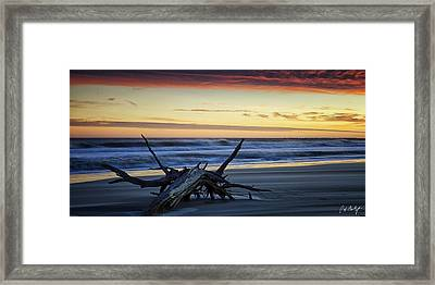 Approaching Tide Framed Print by Phill Doherty