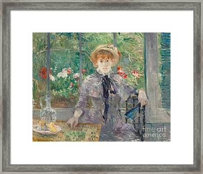 Apres Le Dejeuner Framed Print by Berthe Morisot