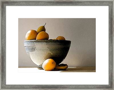 Apricot Bowl  Framed Print by Cole Black