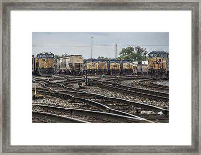 April 30 2014 - Csx Howell Yards Framed Print by Jim Pearson