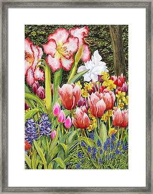 April Framed Print by Karen Wright