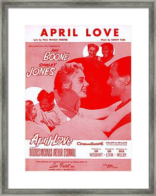 April Love Framed Print by Mel Thompson