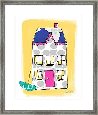 April Showers House Framed Print by Linda Woods
