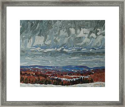 April Storm Watch Framed Print by Phil Chadwick