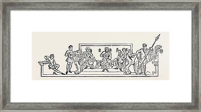 April Was Oster-monath Because The Wind Generally Blew Framed Print by English School