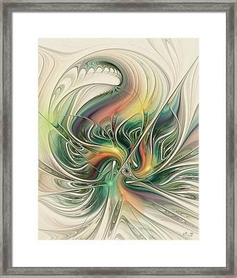 April's Temper Framed Print by Kim Redd