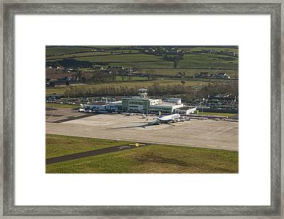 Apron At City Of Derry Airport Framed Print by Colin Bailie