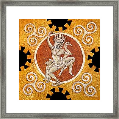Apsaras Framed Print by Anna Maria Guarnieri