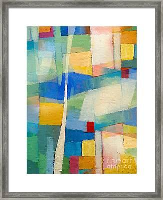 Aqua Abstract Framed Print by Lutz Baar