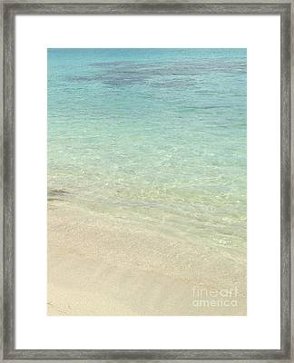 Aqua Blue Waters Framed Print by Joseph Baril