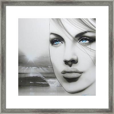 'aqua Marine' Framed Print by Christian Chapman Art