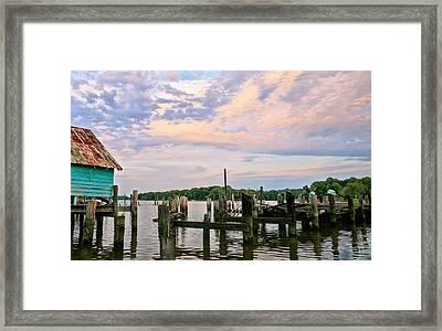 Aqua Marine Framed Print by JC Findley