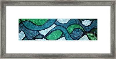 Aqua Motion Framed Print by Genevieve Esson
