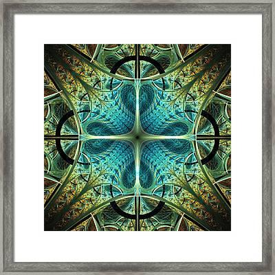 Aqua Shield Framed Print by Anastasiya Malakhova