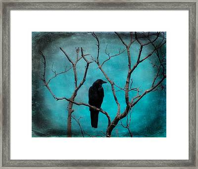 Aqua Twilight Framed Print by Gothicolors Donna Snyder