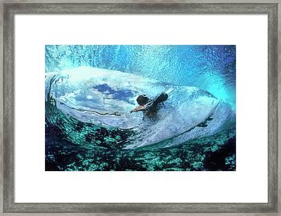 Blue Womb Framed Print by Sean Davey