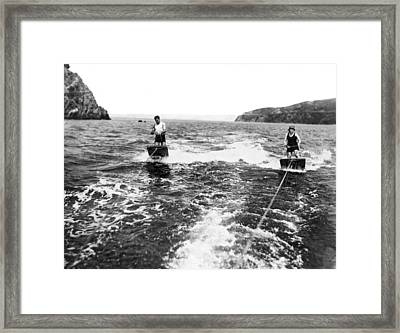 Aquaplane Ride On Sf Bay Framed Print by Underwood Archives
