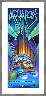 Aquapolis Framed Print by Patrick Anthony Pierson
