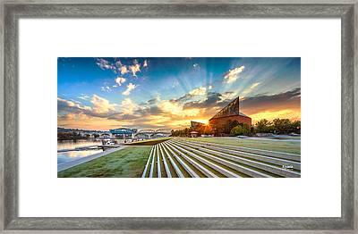 Aquarium Sunrise Framed Print by Steven Llorca