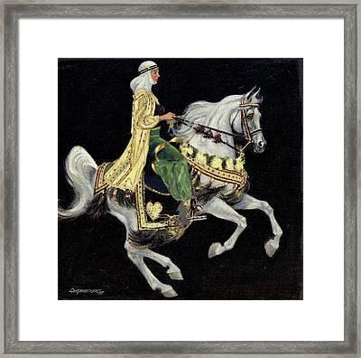 Arabian Costume Horse Framed Print by Don  Langeneckert