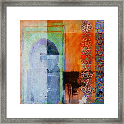 Arabic Motif 10 Framed Print by Corporate Art Task Force