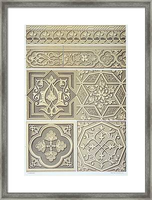 Arabic Tile Designs  Framed Print by Anonymous
