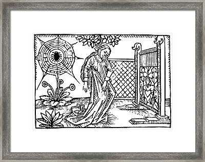 Arachne The Weaver, Greek Myth Framed Print by Photo Researchers
