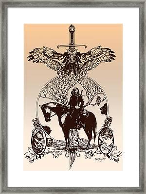 aragorn-Tolkien appreciation Framed Print by Derrick Higgins