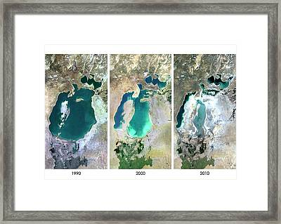 Aral Sea In 1990 Framed Print by Planetobserver