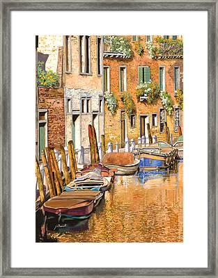 Arancio Sul Canale Framed Print by Guido Borelli
