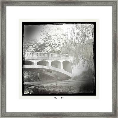 Arboretum Bridge Framed Print by Justine Connolly