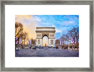 Arc De Triomphe - A Paris Landmark Framed Print by Mark E Tisdale