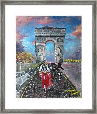 Arc De Triomphe Framed Print by Alana Meyers