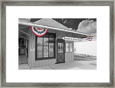 Arcade And Attica Depot Framed Print by Guy Whiteley