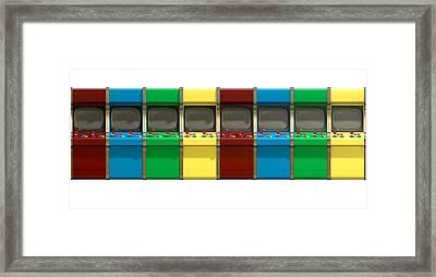 Arcade Game Line Framed Print by Allan Swart