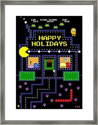 Arcade Holiday Framed Print by Shawna Rowe