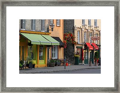 Arch Of Flowers In Old Quebec City Framed Print by Juergen Roth