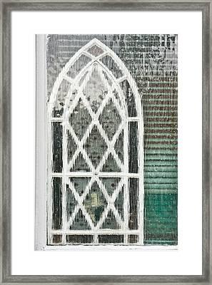 Arch Pattern Framed Print by Tom Gowanlock