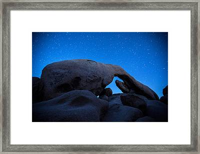 Arch Rock Starry Night 2 Framed Print by Stephen Stookey