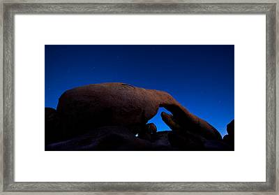 Arch Rock Starry Night Framed Print by Stephen Stookey