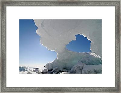 Arch With A Heart Framed Print by Sandra Updyke