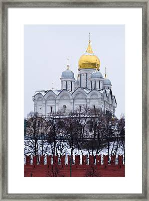 Archangel Cathedral Of Moscow Kremlin - Featured 3 Framed Print by Alexander Senin