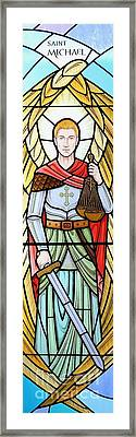 Archangel Michael Framed Print by Gilroy Stained Glass