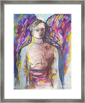 Archangel Michael Framed Print by Jan Statman