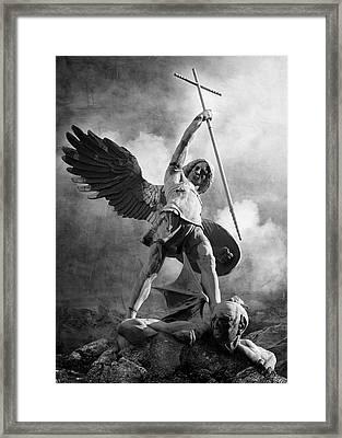 Archangel Michael Framed Print by Marc Huebner