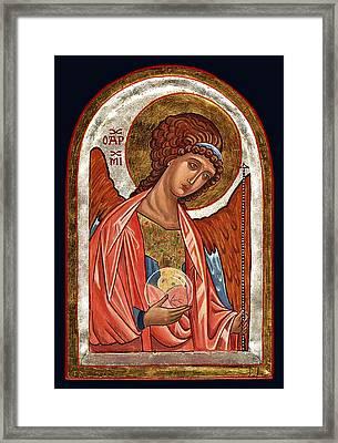 Archangel Michael Framed Print by Raffaella Lunelli